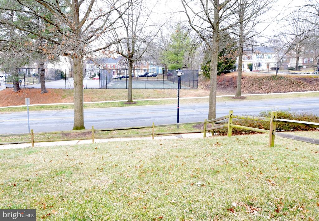 View from backyard to tennis courts and pool - 20405 PERIDOT LN, GERMANTOWN