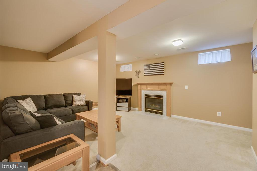Lower Level Recreation Room with a gas fireplace - 2573 SYLVAN MOOR LN, WOODBRIDGE