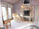 Master Bedroom Sitting area with gas fireplace - 11713 WAYNE LN, BUMPASS
