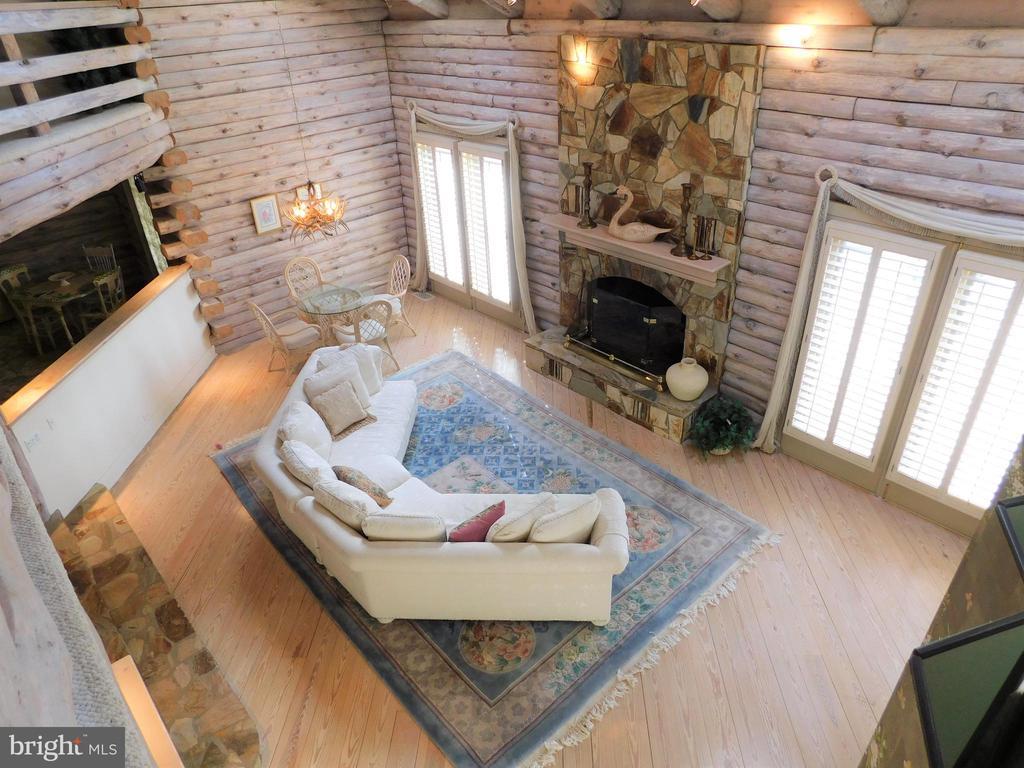 View of Living Room from balcony above - 11713 WAYNE LN, BUMPASS