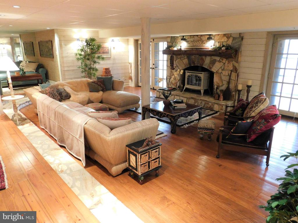 Basement: Living Room with gas fireplace - 11713 WAYNE LN, BUMPASS