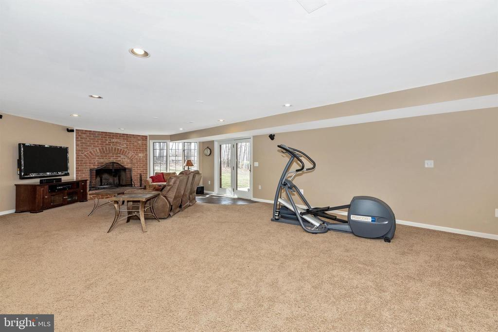 Wood burning fireplace in lower level - 5218 MUIRFIELD DR, IJAMSVILLE