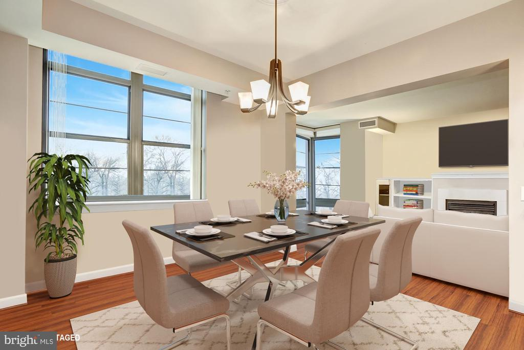 Dining Room with View - 1830 FOUNTAIN DR #502, RESTON