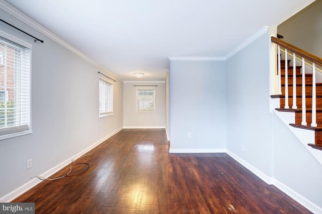 Living Room - Freshly Painted w/ Light Gray Paint! - 4405 VERMONT AVE, ALEXANDRIA