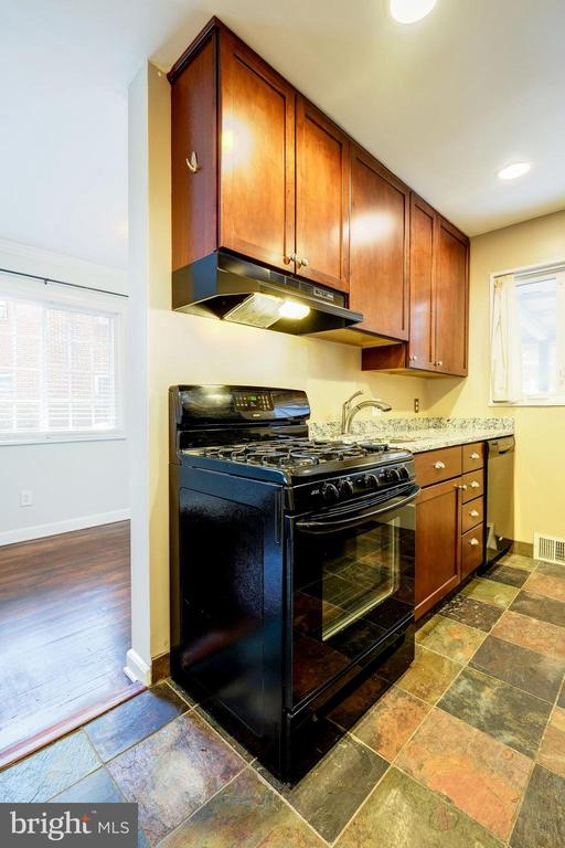 Kitchen - Beautiful Cherry Wood Cabinets! - 4405 VERMONT AVE, ALEXANDRIA