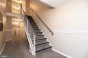 Hallway and stairs to unit - 5934 COVE LANDING RD #301C, BURKE