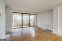 LR with balcony access and Dining Room on left - 4141 HENDERSON RD #324, ARLINGTON