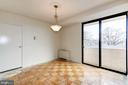 Dining Room with large closet and balcony access - 4141 HENDERSON RD #324, ARLINGTON