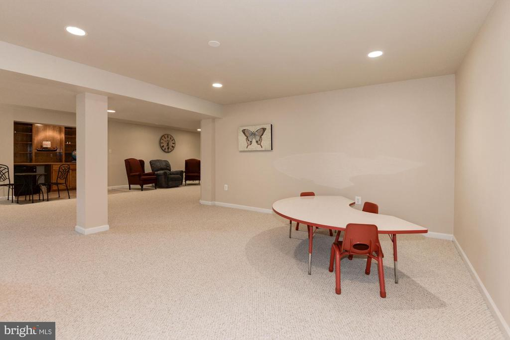 Lower Level Game Room - 1340 DASHER LN, RESTON