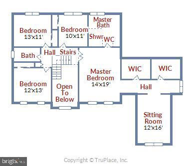 Upper Level Floorplan - 1340 DASHER LN, RESTON