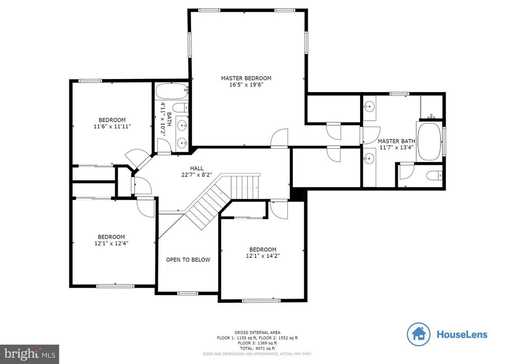 Floorplan Upper - 29 HUBBARD CT, STAFFORD