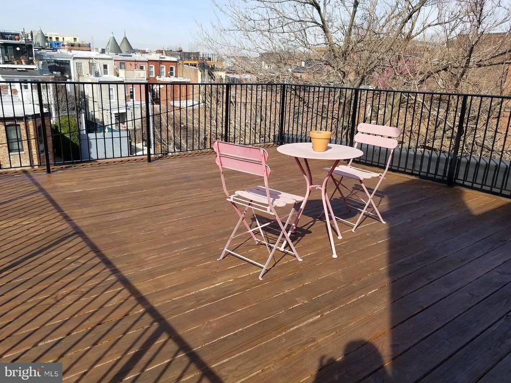 Upper unit roof deck - 1822 4TH ST NW, WASHINGTON