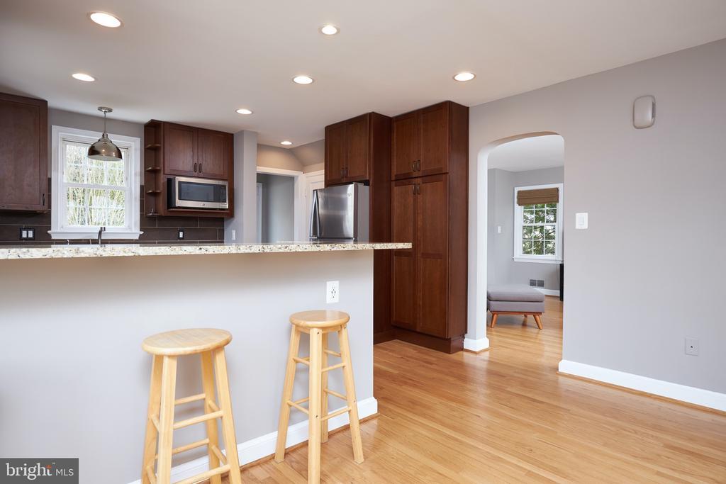 Renovated  kitchen with recessed lighting - 11006 HARRIET LN, KENSINGTON