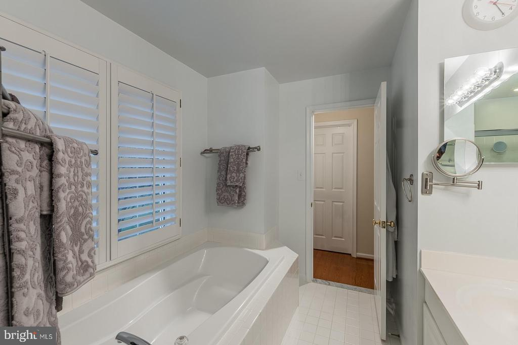 master bath soaking tub - 11485 WATERHAVEN CT, RESTON