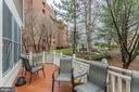 Deck of family Room on main level - 11485 WATERHAVEN CT, RESTON