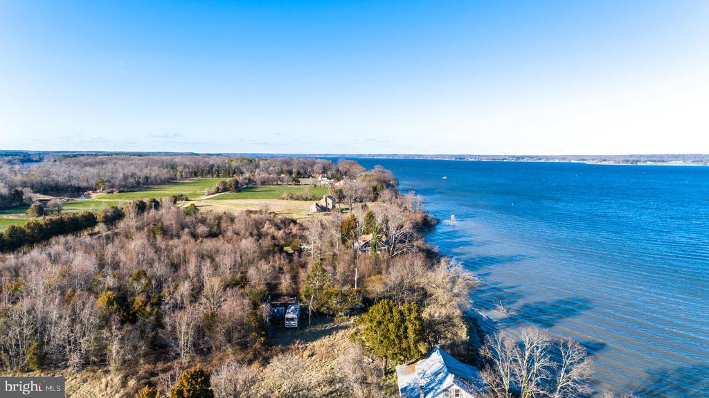 Another Aerial View out to the Wicomico RIver - 15798 LANCASTER FARM RD, NEWBURG
