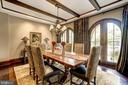 Dining Room - 8001 OVERHILL RD, BETHESDA