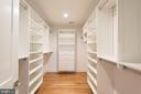 Owners Suite Walk-in Closet - 5204 SARATOGA AVE, CHEVY CHASE