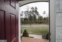 Private views out  front door to trees - 43168 HASBROUCK LN, LEESBURG