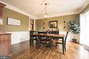 Fabulous Dining area - 43168 HASBROUCK LN, LEESBURG