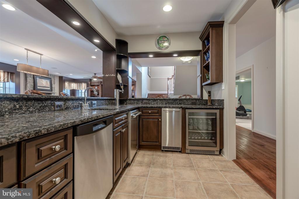 Bar w/ Dishwasher, Cooktop, Kegerator,  Plus More - 8429 BROOK RD, MCLEAN