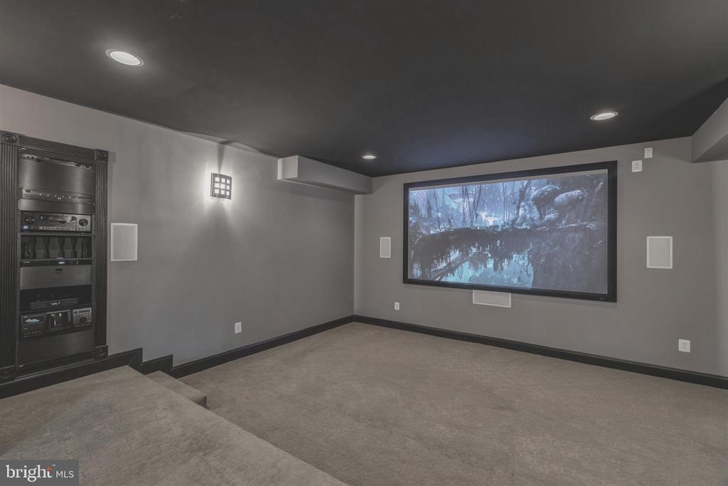 Home Theater with Surround Sound - 8429 BROOK RD, MCLEAN