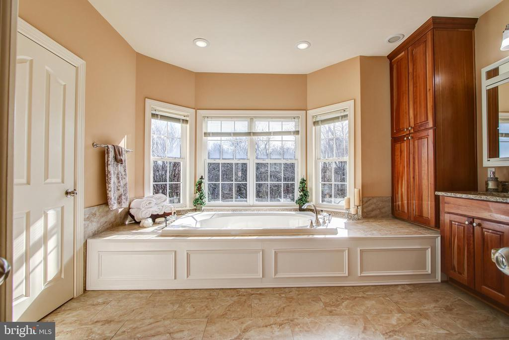 Master Bath with Soaking Tub - 15611 RIDING STABLE RD, LAUREL