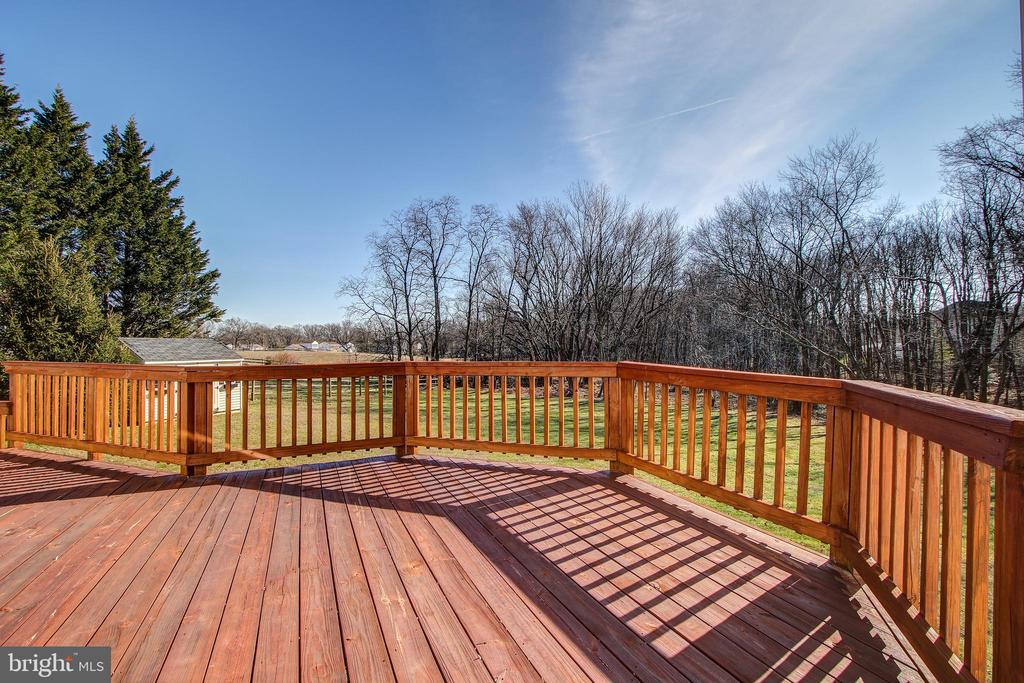 Spacious Deck off of Family Rm - 15611 RIDING STABLE RD, LAUREL