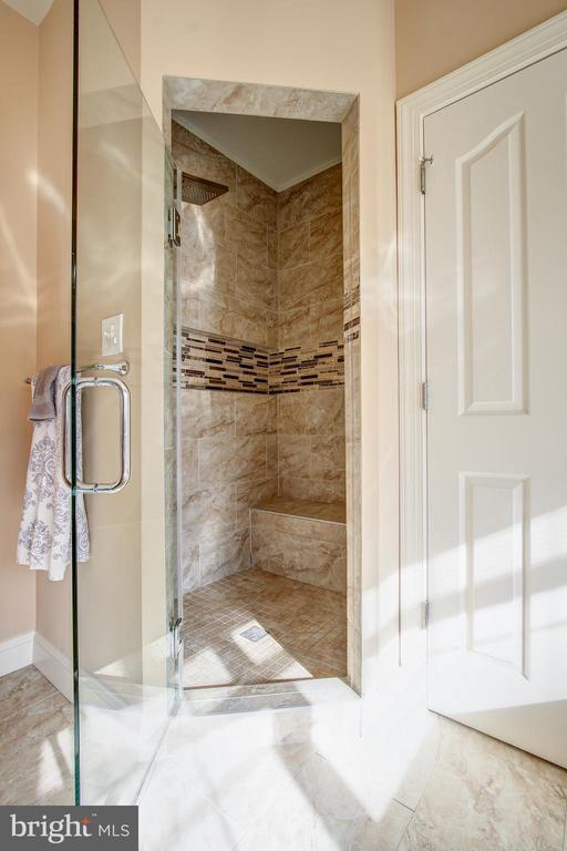 Master Bath Shower - 15611 RIDING STABLE RD, LAUREL