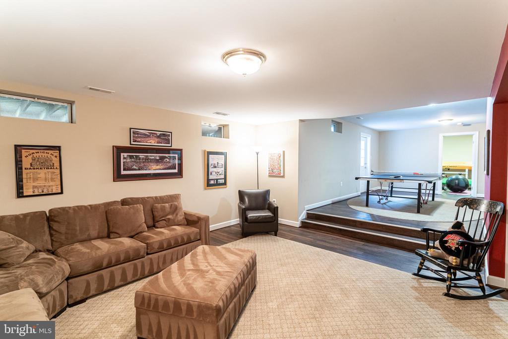 Fully Finished Walk-up Lower Level Rec Room - 17716 CRICKET HILL DR, GERMANTOWN