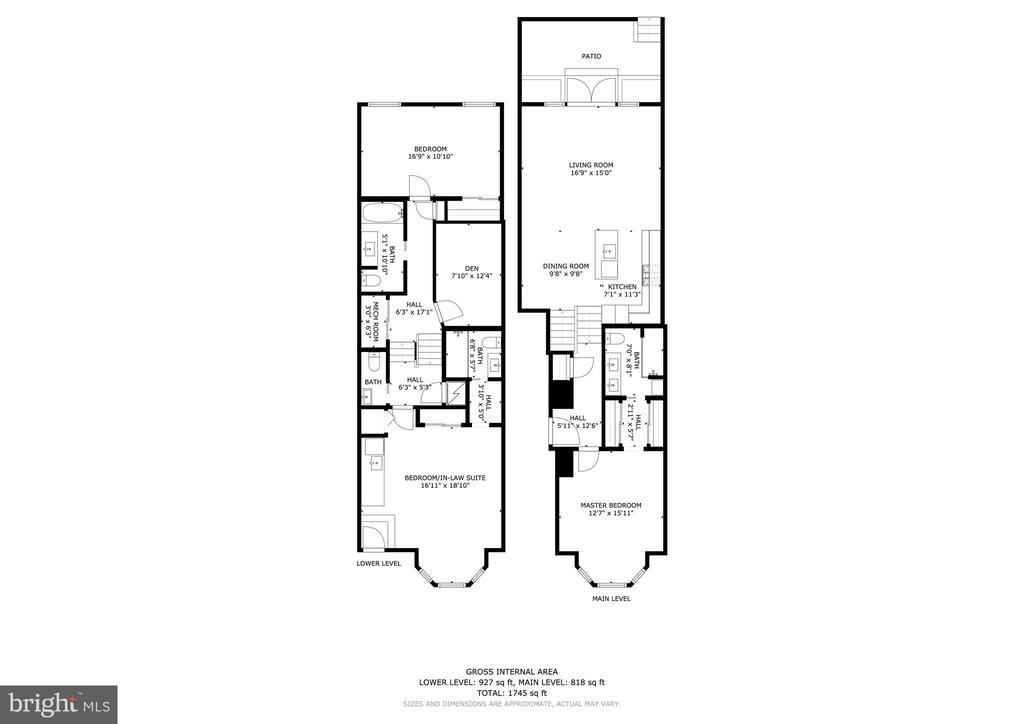 Floor Plan - 930 FRENCH ST NW #1, WASHINGTON