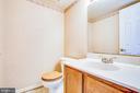 Half bath in basement - 6122 PLAINVILLE LN, WOODBRIDGE