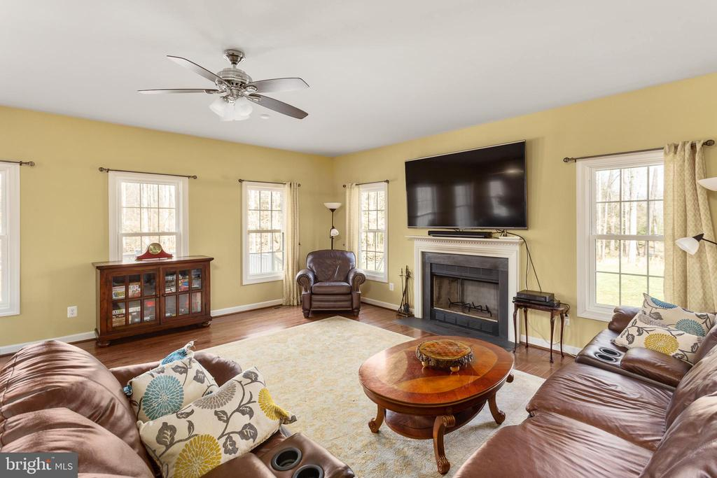 Family Room with seasonal window views! - 8108 SPRUCE VALLEY LN, CLIFTON