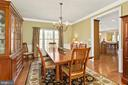 Dining Room - hardwood floors, custom molding - 8108 SPRUCE VALLEY LN, CLIFTON