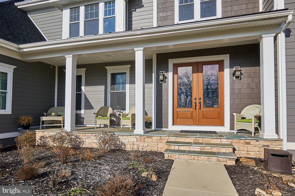 Beautiful solid wood double front doors - 41222 TRAMINETTE CT, ASHBURN