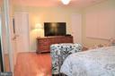 Master bedroom with doorway to Master bath - 5827 WESSEX LN, ALEXANDRIA
