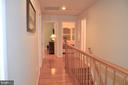 Upper level hallway towards bedrooms - 5827 WESSEX LN, ALEXANDRIA
