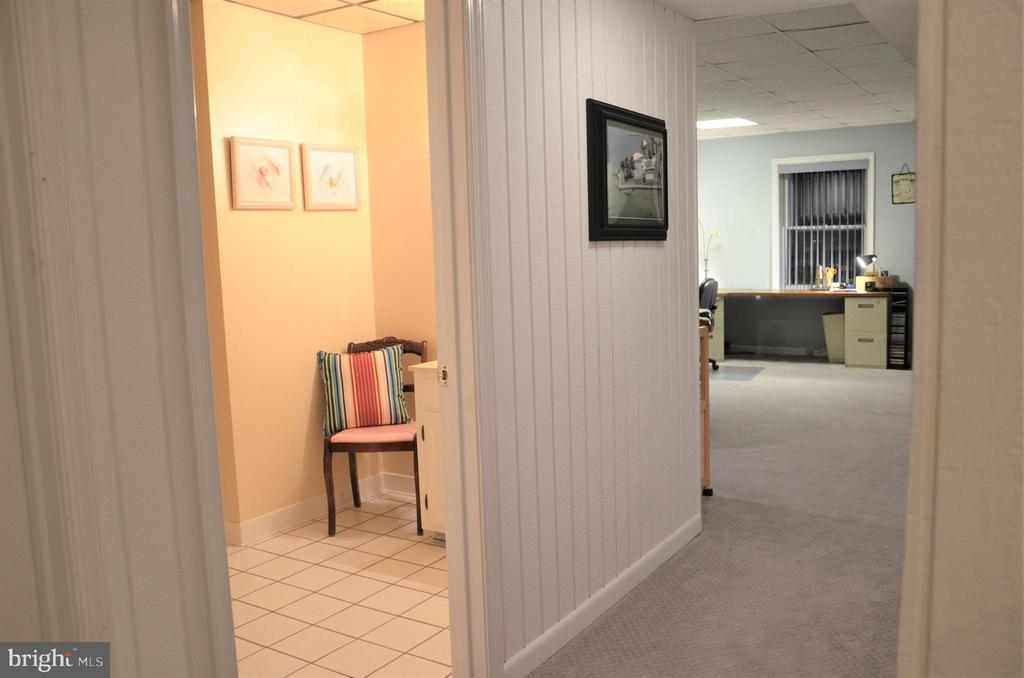 Lower level full bathroom and hallway family room - 5827 WESSEX LN, ALEXANDRIA