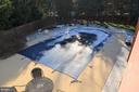 In-ground custom heated saltwater pool & hardscape - 5827 WESSEX LN, ALEXANDRIA