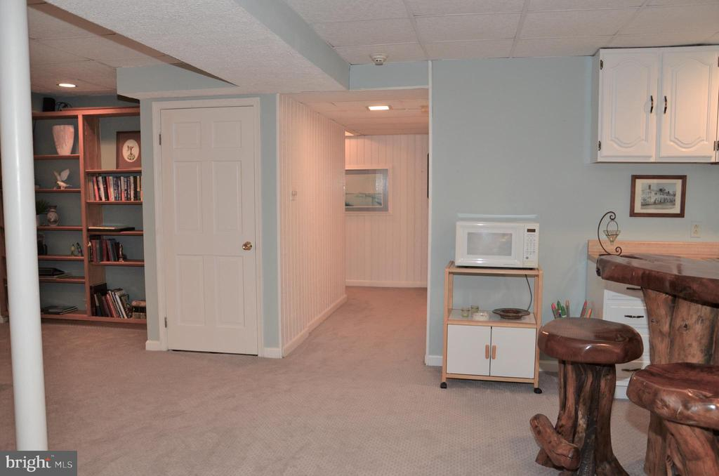 Hallway to stairs, bathroom, storage, flex room - 5827 WESSEX LN, ALEXANDRIA