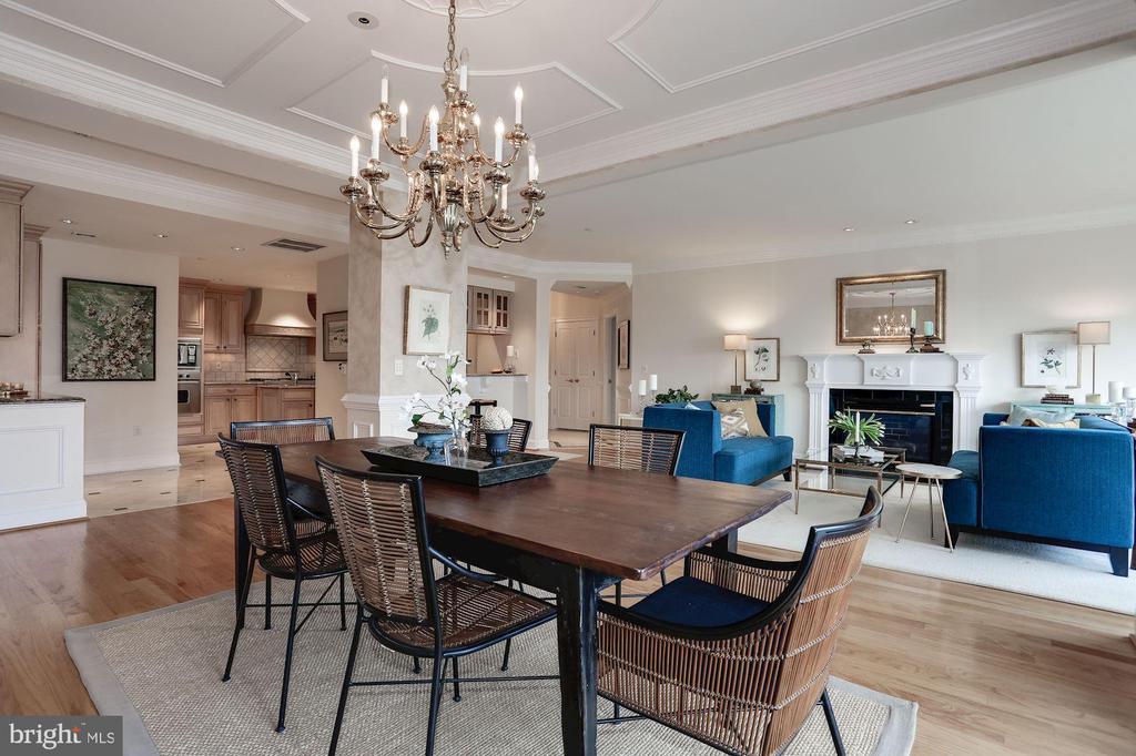 Formal dining area adjacent to living room - 1201 N NASH ST #302, ARLINGTON