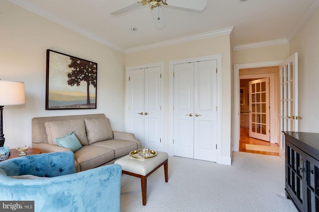 2nd bedroom staged as a den - 1201 N NASH ST #302, ARLINGTON