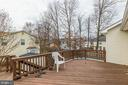 Deck off of dining room - 56 DOROTHY LN, STAFFORD