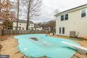 Inground pool with diving board - 56 DOROTHY LN, STAFFORD