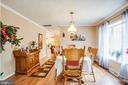 Dining Room view from Living Room - 11601 ORANGE PLANK RD, SPOTSYLVANIA