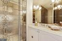 Powder room off of foyer - 5600 WISCONSIN AVE #1308, CHEVY CHASE