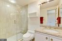 Second bedroom en-suite bathroom - 5600 WISCONSIN AVE #1308, CHEVY CHASE