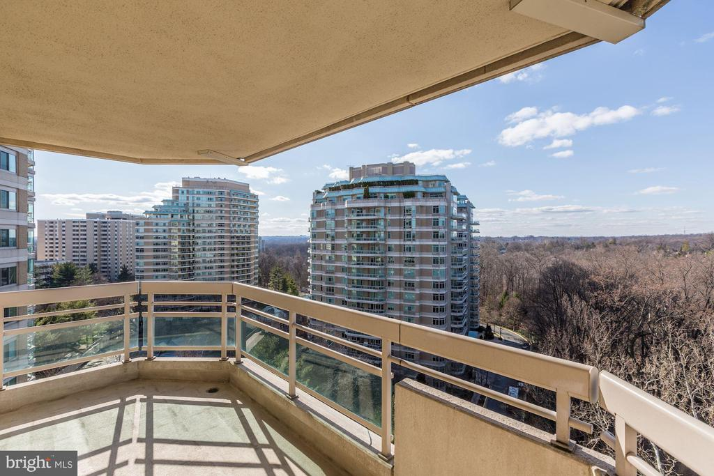 Private balcony off of master bedroom - 5600 WISCONSIN AVE #1308, CHEVY CHASE