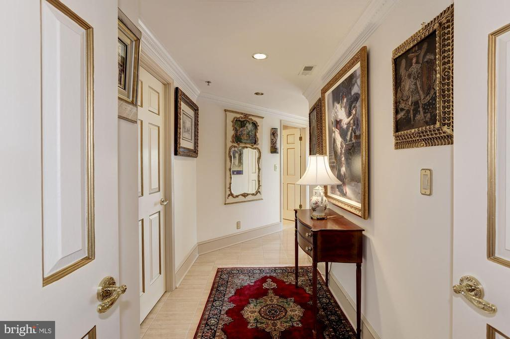 Hall to master bedroom - 5600 WISCONSIN AVE #1308, CHEVY CHASE