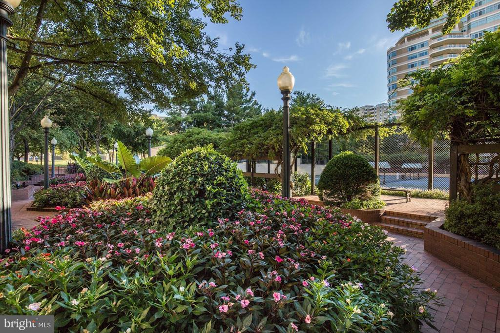 Beautiful gardens and grounds - 5600 WISCONSIN AVE #1308, CHEVY CHASE